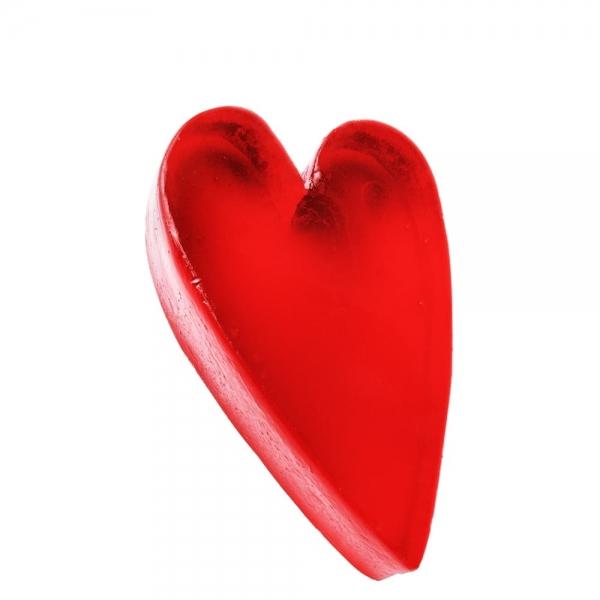 Mydło Serce asymetryczne czerwone