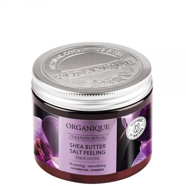 Peeling solny z masłem Shea Czarna Orchidea
