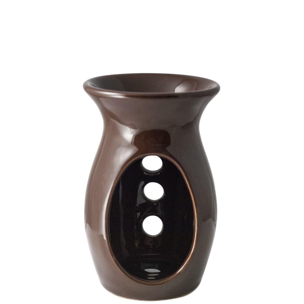 Brązowy kominek ceramiczny
