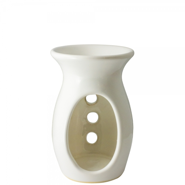 Beżowy kominek ceramiczny