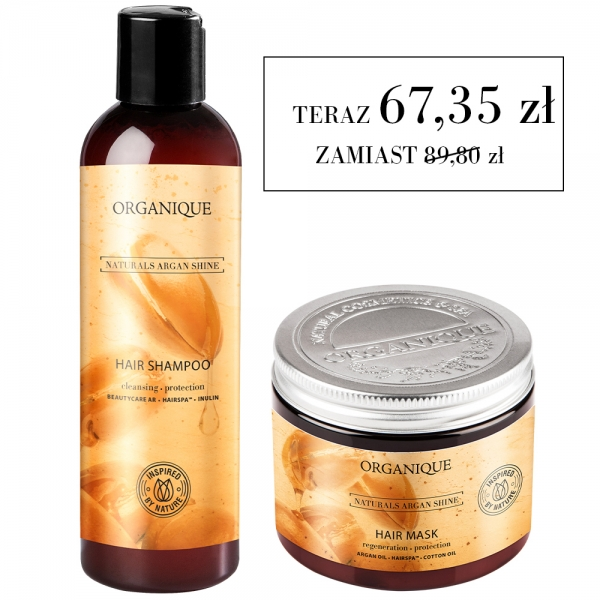 Zestaw szampon + maska Naturals Argan Shine